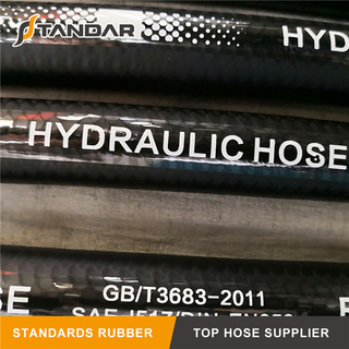 SAE100 R4 High Pressure Flexible Fiber Braided Reinforced Hydraulic Rubber Hose