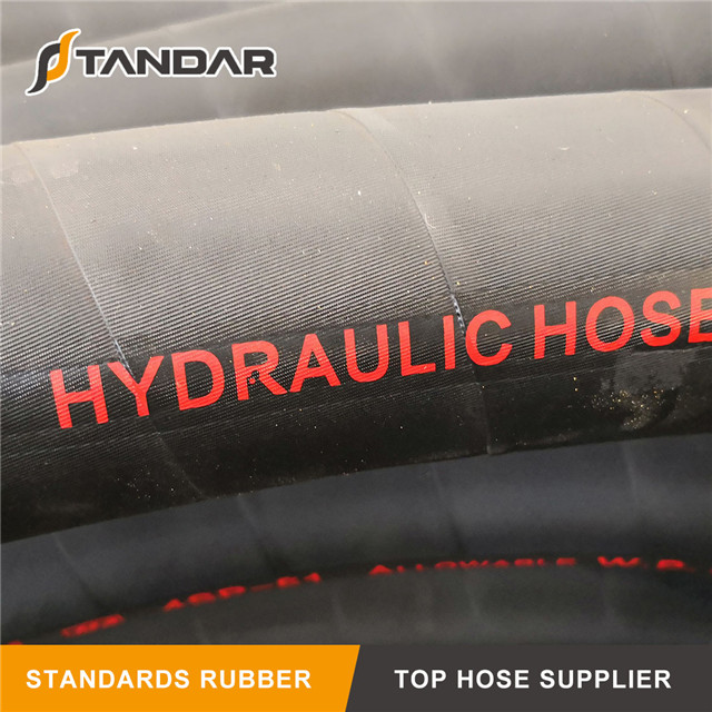 PTFE SAE100 R14 Wire Braided Hydraulic Rubber Hose