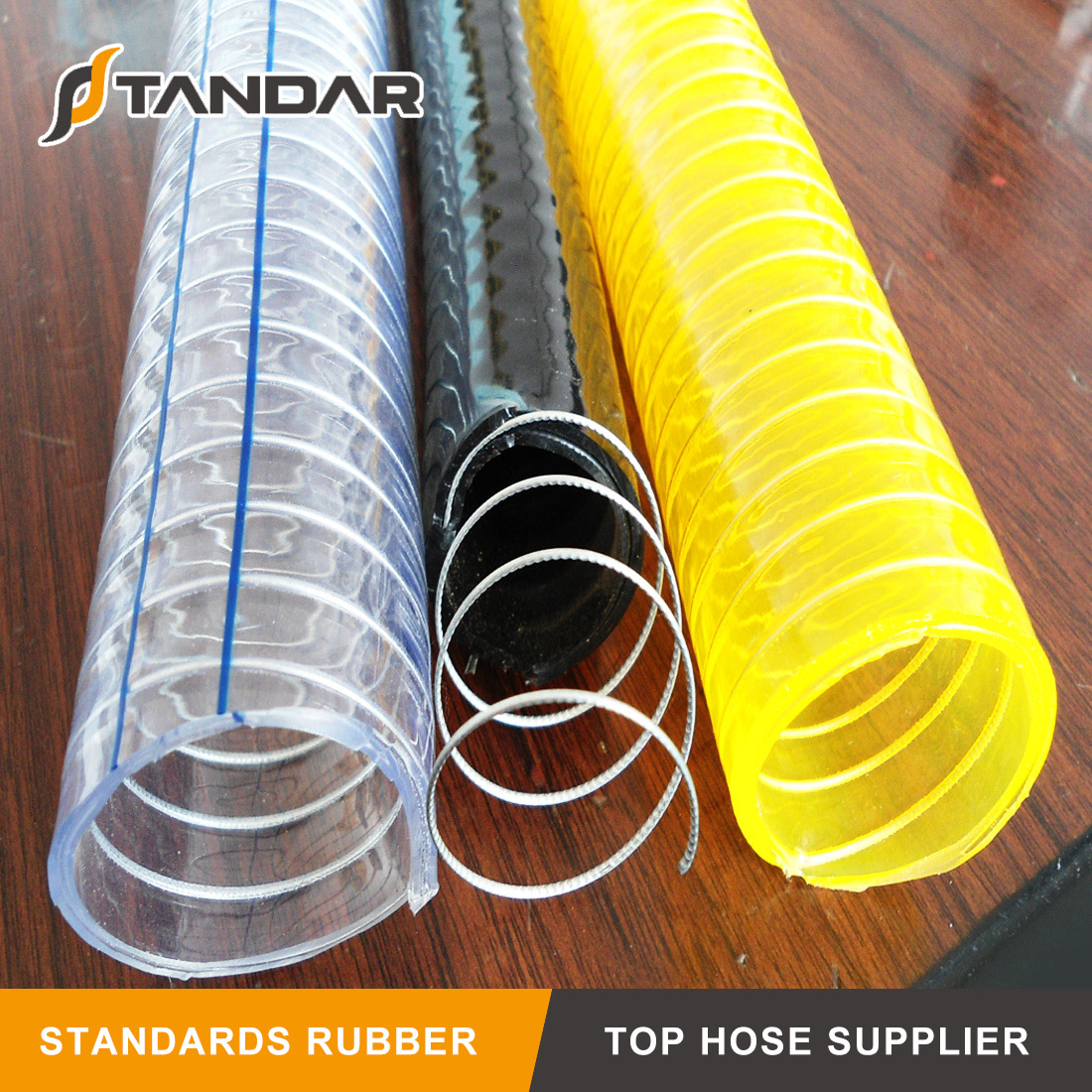 PVC Anti-Static Spiral Steel Wire Polyester Reinforced Hose