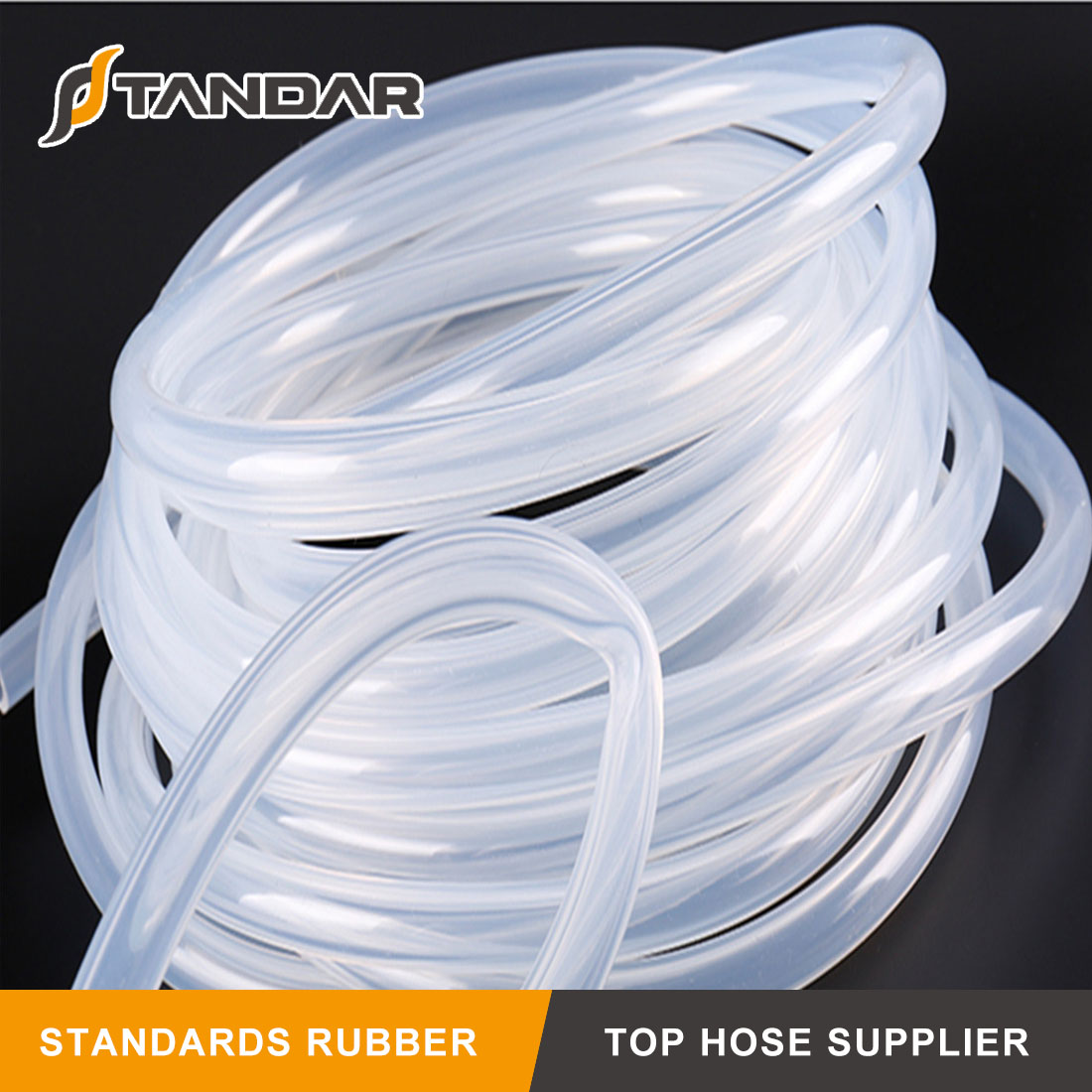 High Temperature platinum cured clear thin wall FDA Flexible Medical Grade Silicone Hose