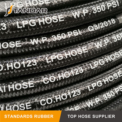 suraksha High Pressure Flexible Rubber propane flex LPG gas Hose pipe