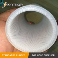clear soft high temp platinum cured 4-PLY Fabic Reinforced Food Grade Silicone rubber tubing