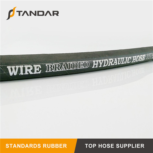 Wire Braid Oil Black Rubber Hose