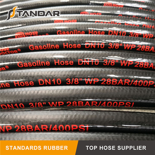 Flexible High Pressure Hydraulic Rubber Gasoline Hose