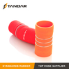 High Pressure auto custom Flexible Steel Wire reinforced braided Hump Silicone coolant Hose Couplers