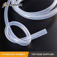 Flexible Heat Resistant high pressure soft thin wall Medical Grade Silicone tubing