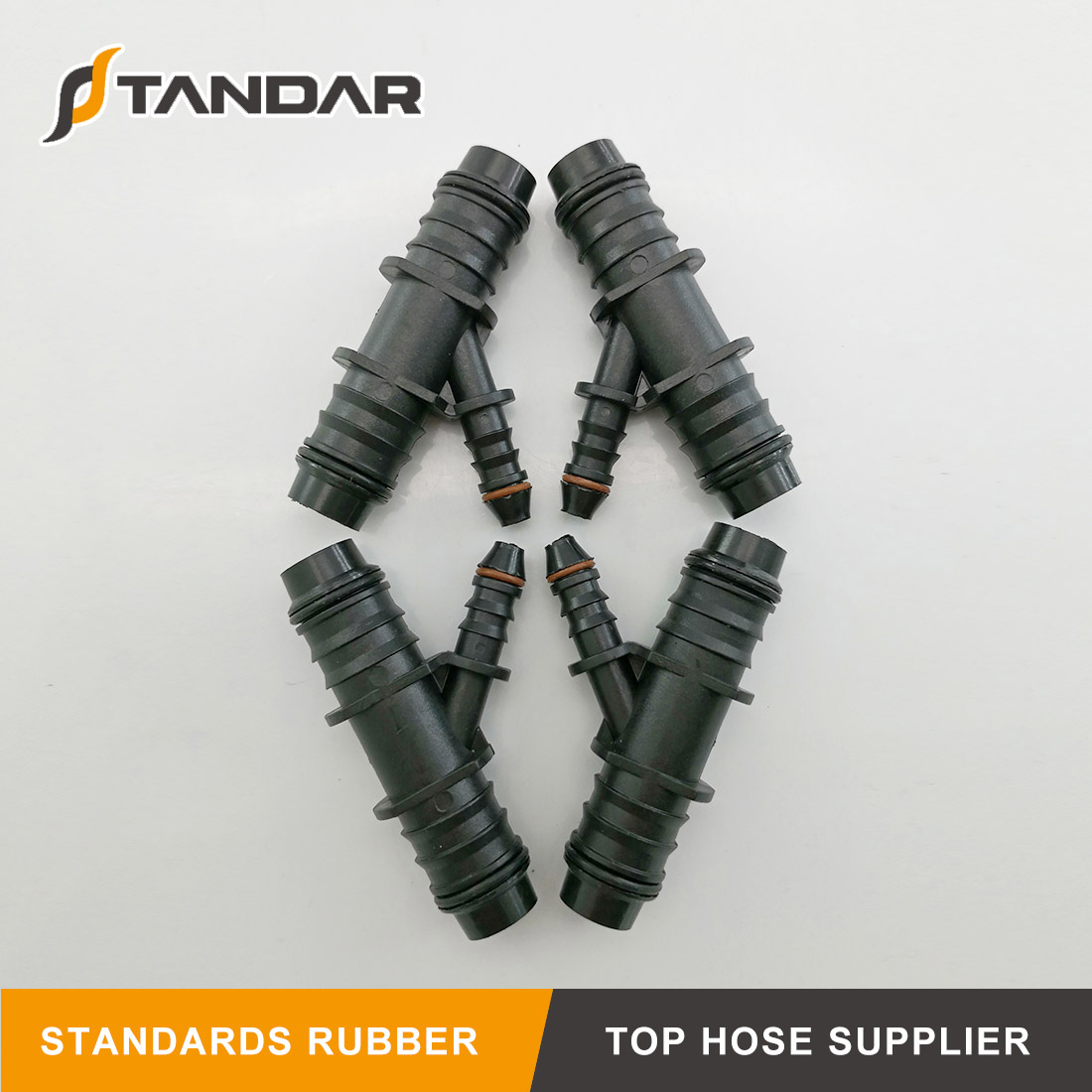 Plastic barbed automative T shape and Y Shape Fuel Line Adaptor