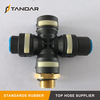 4 Way quick release Air brake Pneumatic Coupling fittings