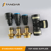 air hose Pneumatic Coupling Copper Swivels Push-in Quick Connector