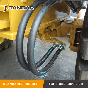 What is the minimum bend radius for hydraulic hose